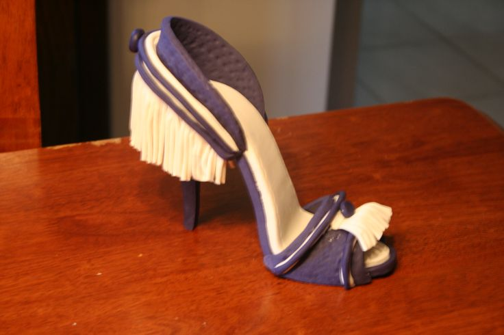 purple and white shoe
