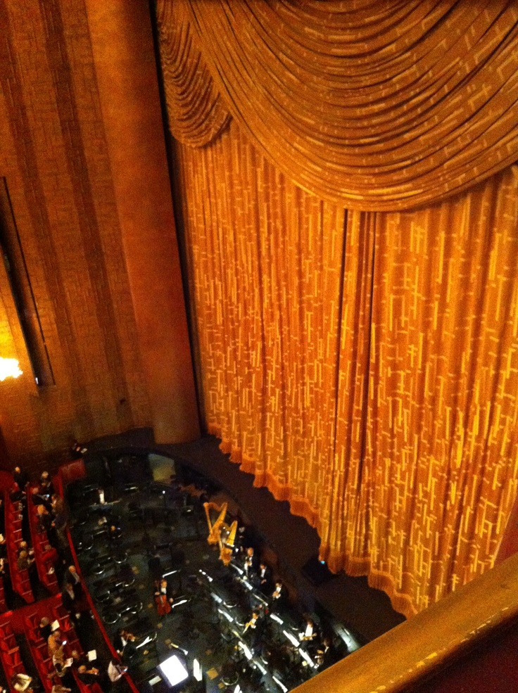 Looking down into the orchestra pit at the Metropolitan Opera, New York, NY. #VerdiMuseum