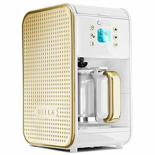 Bella coffeemaker $49.99 Dots Collection 2.0 12-Cup Programmable Coffee Maker, White and Gold