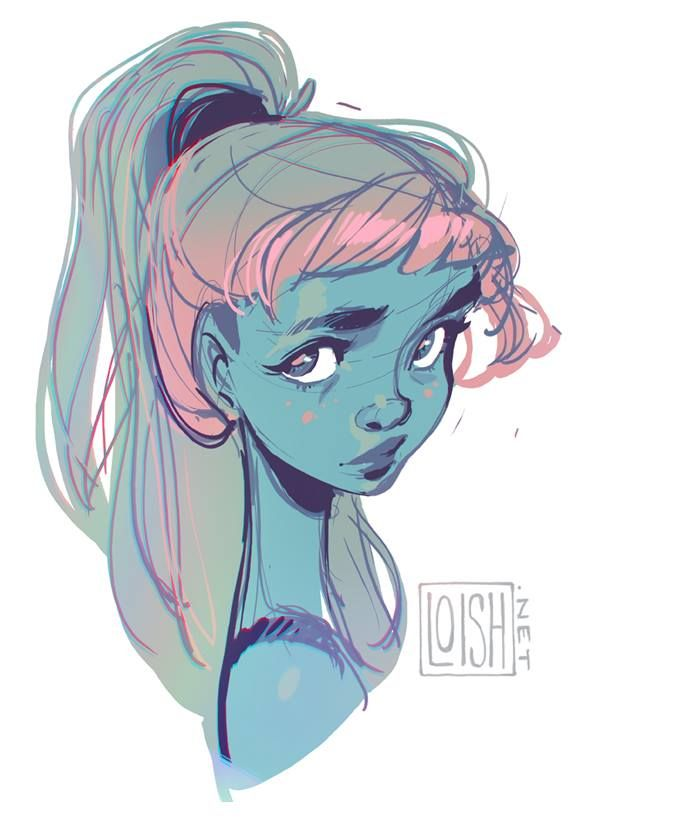 (5) loish - yay, i found some time to sketch a little today ♥