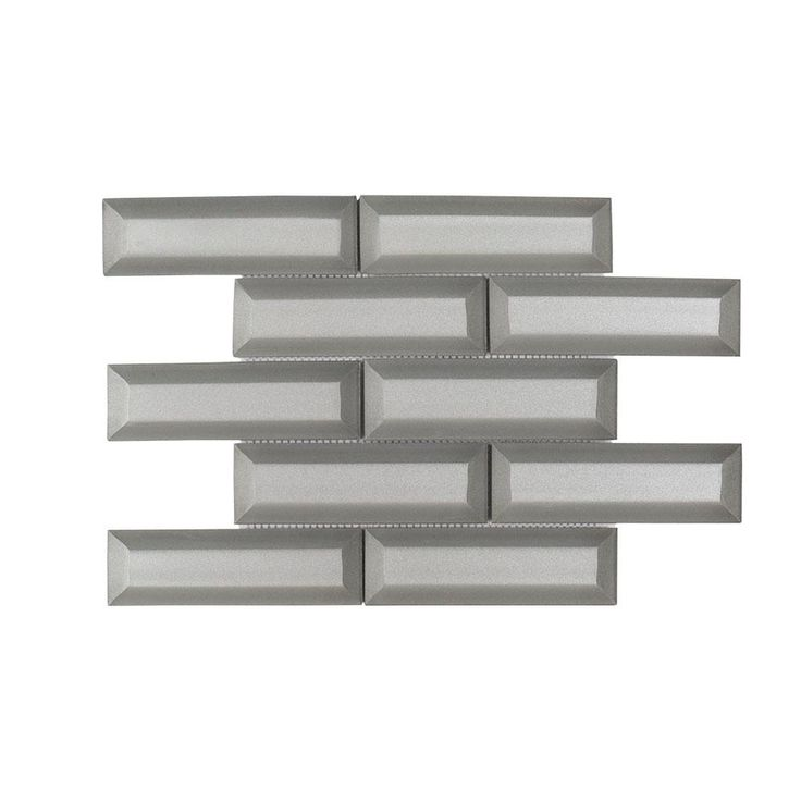Jeffrey Court Silver Ingot 9.625 in. x 11.75 in. x 9mm Glass Mosaic Tile-96782 - The Home Depot