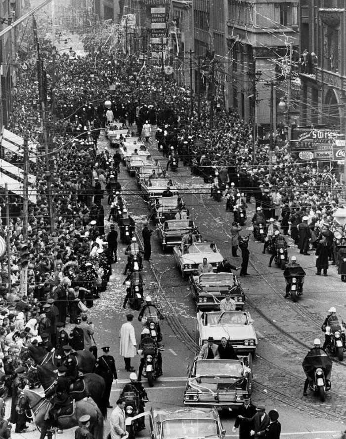 Toronto Maple Leafs Stanley Cup Parade, 1967 **I remember this**