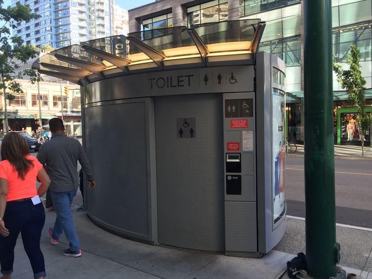 Public outside toilets downtown now. 🙂