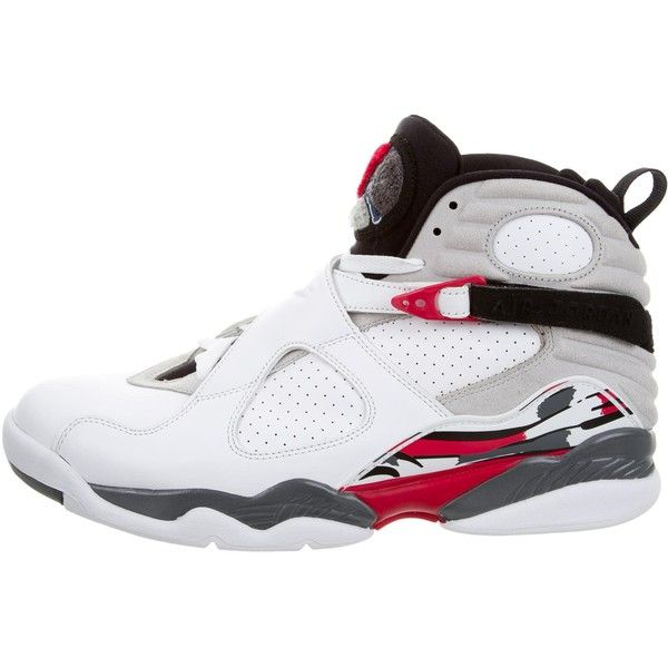 Pre-owned Nike Air Jordan Retro 8 Bugs Bunny Sneakers ($225) ❤ liked on Polyvore featuring men's fashion, men's shoes, men's sneakers, black, mens hi tops, mens buckle shoes, mens black high top sneakers, nike mens shoes and mens black tie