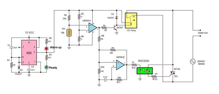 energy saving soldering station circuit diagram schematic diagram energy saving device circuit diagram of energy saver