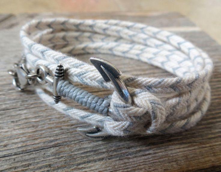 Mens Bracelets – Men's Bracelets - Men's Anchor Bracelet – a unique product by galisjd on DaWanda