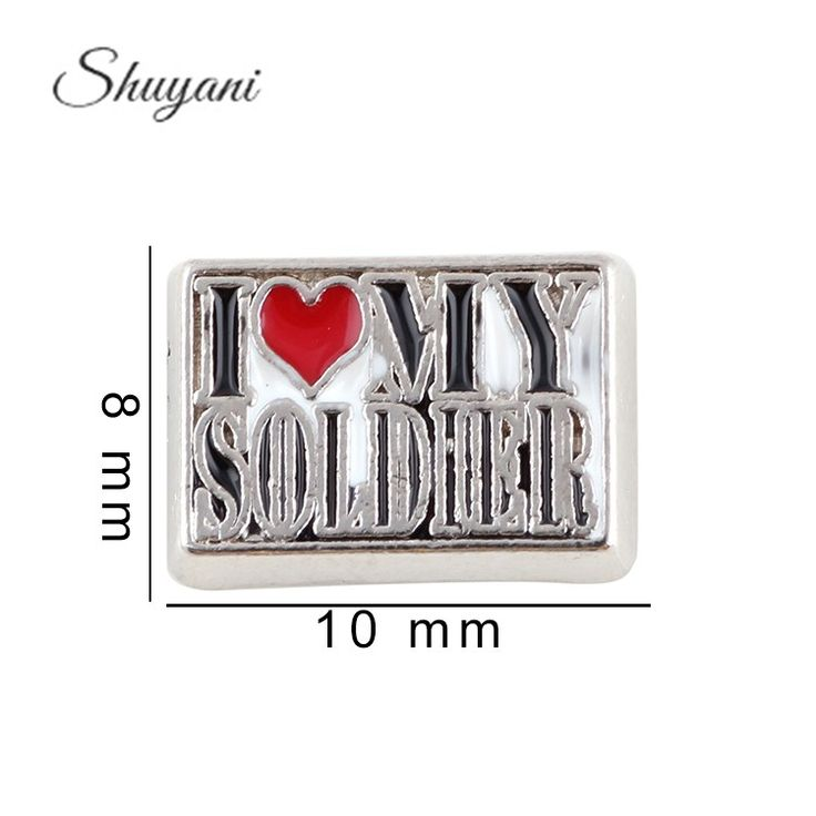 Find More Charms Information about 9*9mm Letter Charms I Love My Soldier Floating Locket Charms For Glass Living Locket Jewelry ,High Quality charm bell,China charms apple Suppliers, Cheap charm chain from shuyani Official Store on Aliexpress.com