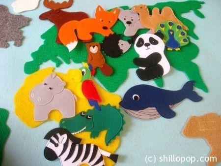 felt animals toy