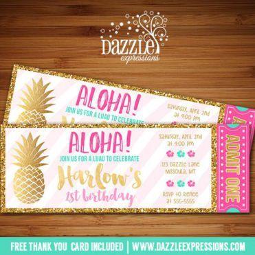Image result for Hawaiian invitations