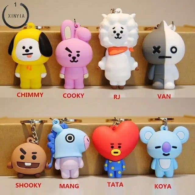 Kpop Bts Bt21 Gantungan Kunci Cooky Mang Key Holder Chain Bag Pendant Keychain Harga 20 000 Pvc Plastik Liontin Boneka Doll Pend Bts Kpop Gantungan Kunci