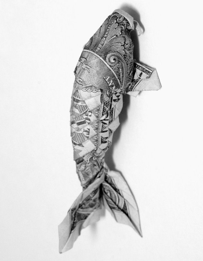 1000 images about dollar bill origami on pinterest for Origami koi fish