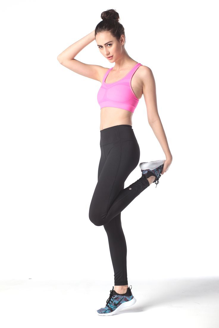 Suggerimento Set #9: Reggiseno Seamless Rosa su Leggings Yoga Neri