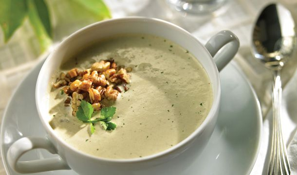 Crema de cilantro con nuez #RecetasNestle