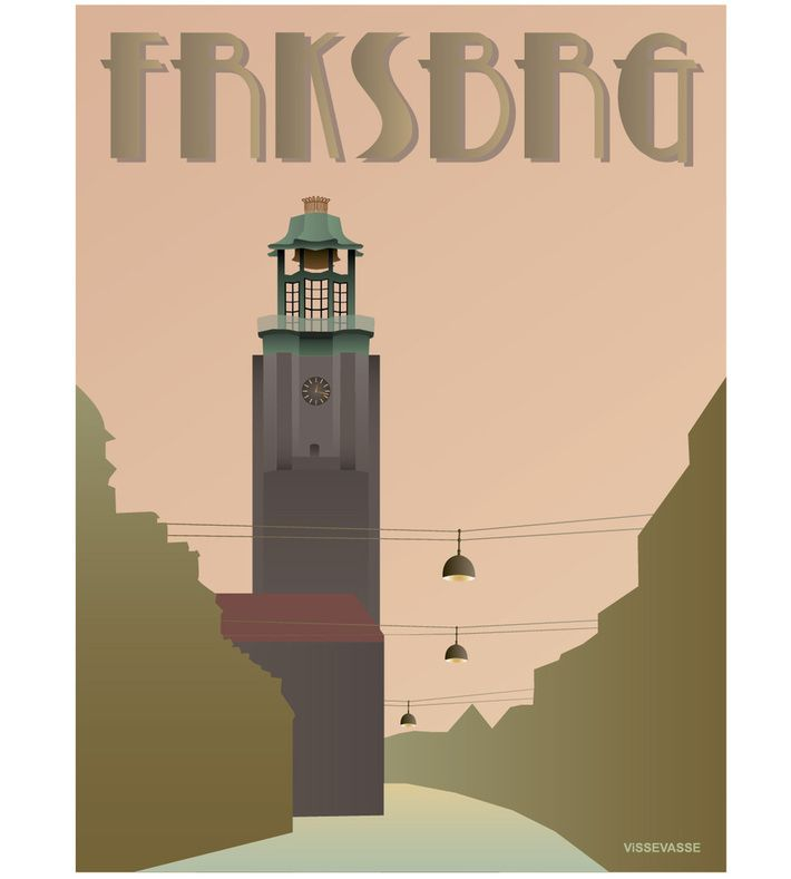 FRKSBRG - Rådhuset. You can buy this piece at www.artrebels.com #artrebels #art #vissevasse