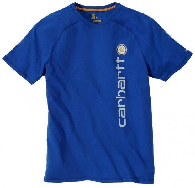 Svedtransporterende og smudsafvisende - lækker T-shirt - Carhartt T- Shirt Force® Cotton Delmont Graphic, nautic blå (101121-489) - Overdele - BILLIG-ARBEJDSTØJ.DK
