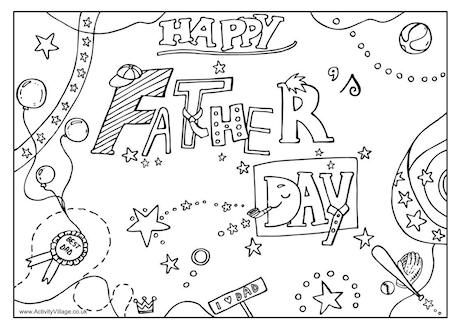 Happy Fathers Day Coloring Page