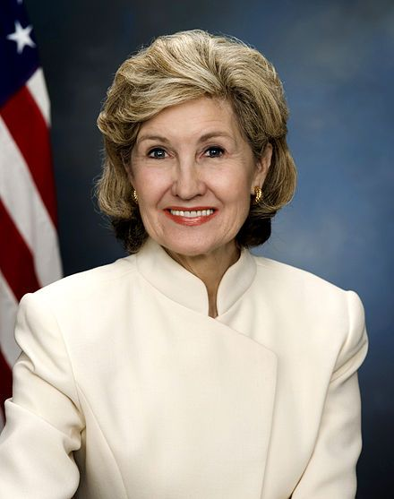 Kay Bailey Hutchison, official government photo as senator. Graduated from University of Texas Law School