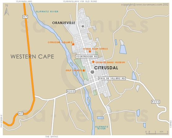 CITRUSDAL Map