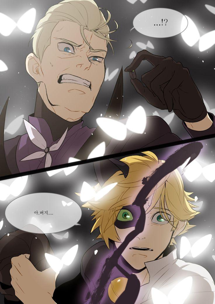 Ojalá y Hawk Moth no sea el papá de Adrien o llorare  Su rostro ahí me hace llorar