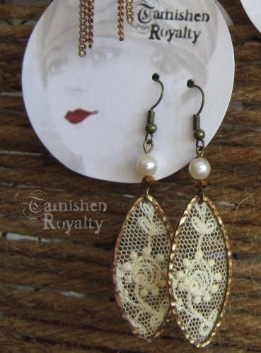 New design. Old lace. #earrings