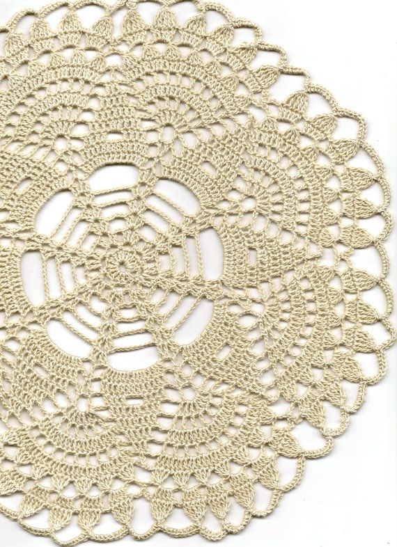 Christmas gift Crochet doily lace doilies table by DoilyWorld