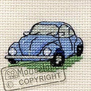 Mouseloft Mini Cross Stitch Kit - VW Beetle, Stitchlets Collection