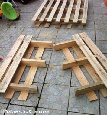 Bricolage : Creer du mobilier de jardin avec des palettes en bois   SHUNRIZE