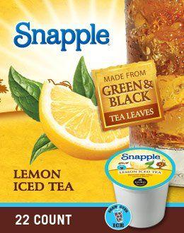 Snapple Lemon Iced Tea K-Cups - 88 Count Snapple http://www.amazon.com/dp/B00CSULZR2/ref=cm_sw_r_pi_dp_BZ0Ktb0VRVZ2FY7G