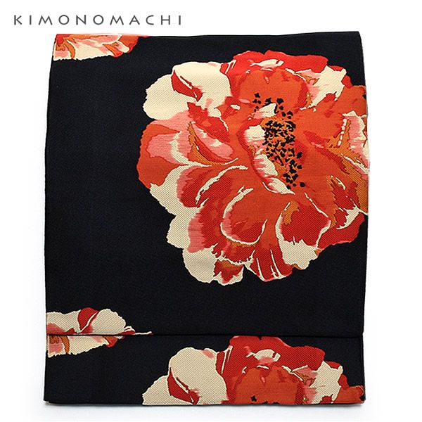 帯1:黒色牡丹 obi