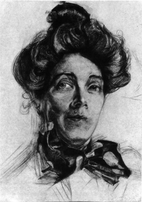 Artist's wife Nadezhda Zabela, 1905  Mikhail Vrubel
