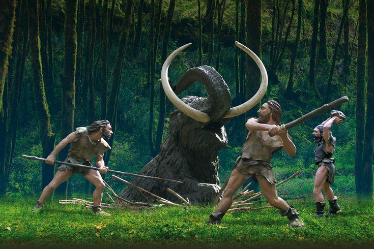Le Préhisto-Parc: parc thématique des modes de vie et coutumes des Hommes de la Préhistoire sur les lieux mêmes où ils vécurent il y a 35 000 ans. Tursac. Périgord
