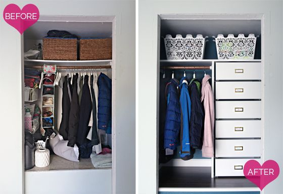 This is one amazingly organised coat closet | KOMPLEMENT system | Before and after