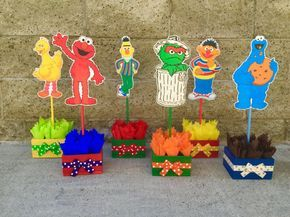 Sesame Street Birthday Centerpiece Decoration Elmo by FalconArte