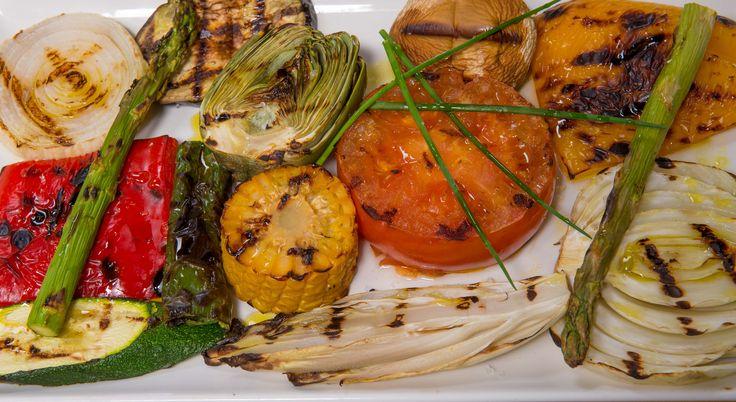 Parrillada de verduras. Restaurante Can Caus. Santa Gertrudis. Ibiza