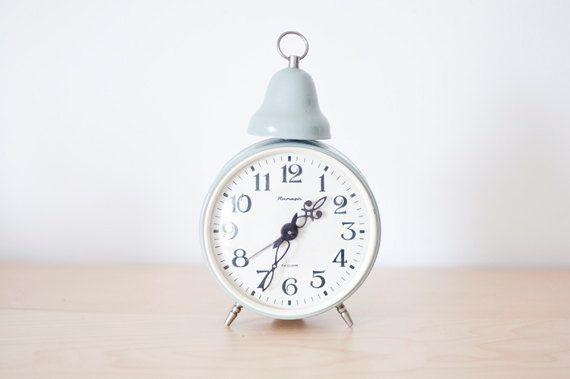 Soviet alarm clock with bell USSR Jantar from by SovietUnionStuff, $43.00