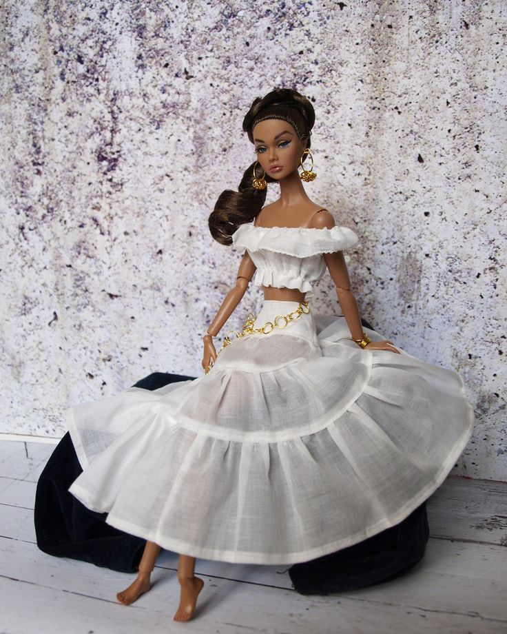 White ethnic outfit for Fashion Royalty, Poppy Parker, Nu face by Olgaomi