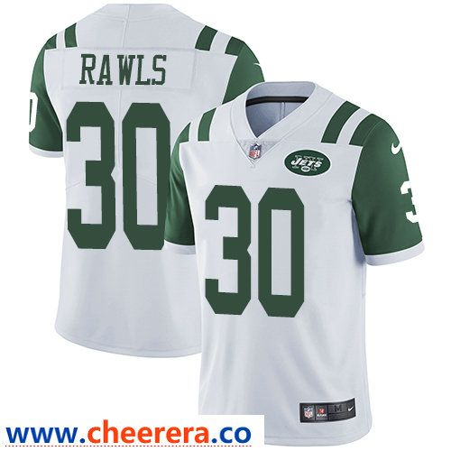 newest 8d975 a1c99 Nike New York Jets #30 Thomas Rawls White Men's Stitched NFL ...