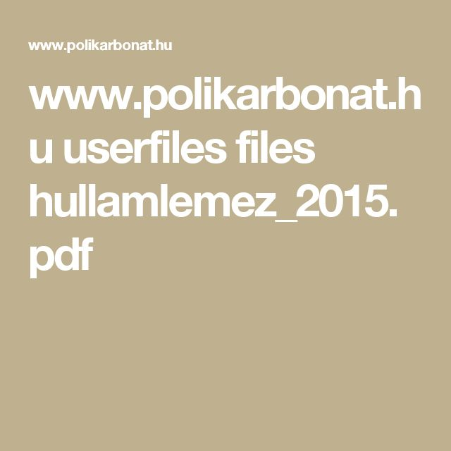 www.polikarbonat.hu userfiles files hullamlemez_2015.pdf