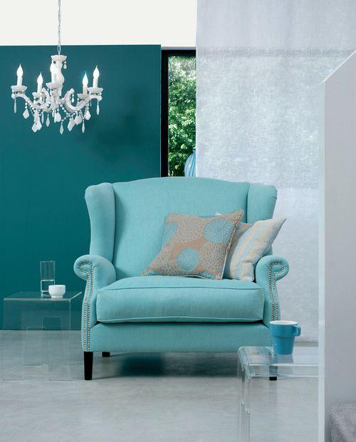 blue chair against slightly darker blue background. - 25+ Best Ideas About Aqua Chair On Pinterest Dark Blue Color