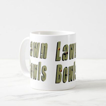 Lawn Bowls Picture Logo Coffee Mug - logo gifts art unique customize personalize