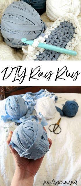 Diy How To Crochet A Rag Rug Diyragrugcrochet
