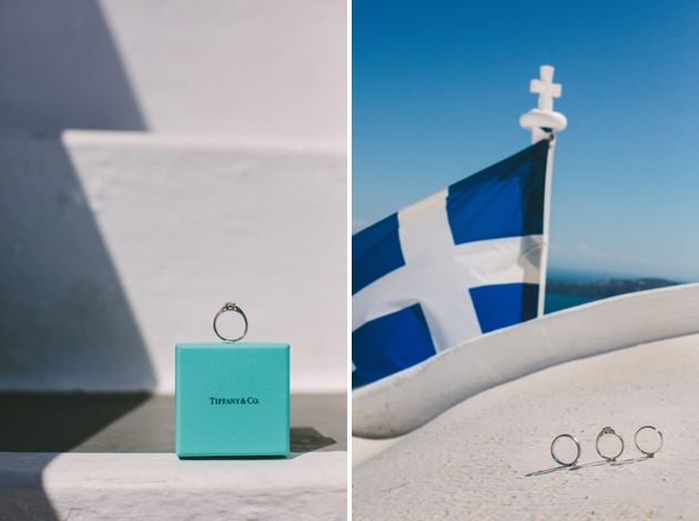Tiffany's wedding bands with a view  - Wedding By Stella And Moscha, Photo by Thanos Asfis
