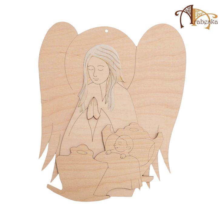 (Angel) Produkt Arabeski - anioł w częściach do samodzielnego ozdabiania i sklejania (kilka rozmiarów) – www.sklep.centrumarabeska.pl
