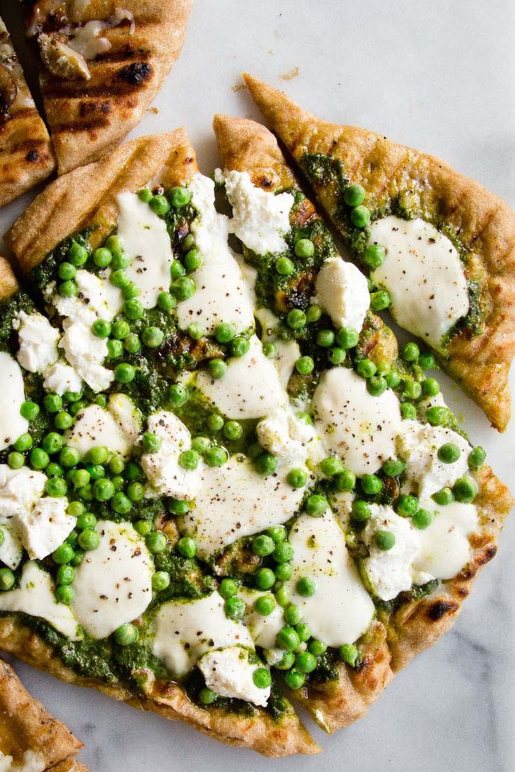 Pesto Pea Pizza