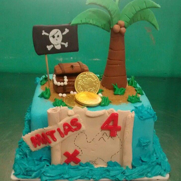 Piratas pirate isla cake
