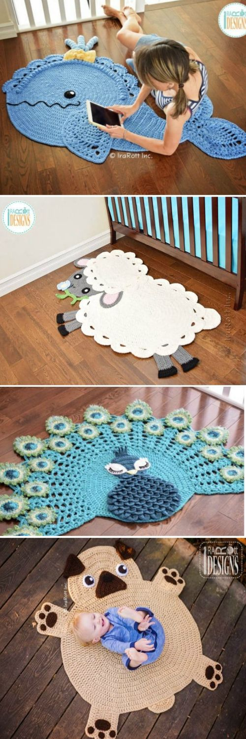 Crochet Animal Rugs Beautiful Patterns