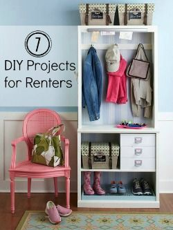 diy projects for renting an apartment (aka next year!)