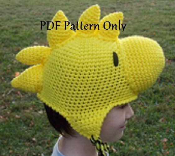 For Norah? Maddie snoopy and Jack, Charlie Brown. Hand Crocheted Yellow Bird Beanie Hat Stocking Cap with Ear Flaps PDF Pattern All Sizes by ShannonsCrochetWeb on Etsy https://www.etsy.com/listing/255628731/hand-crocheted-yellow-bird-beanie-hat