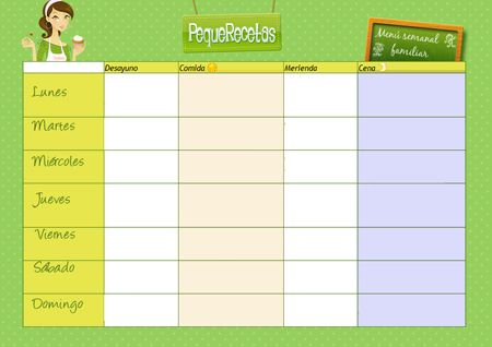 plantilla-menu-semanal e ideas