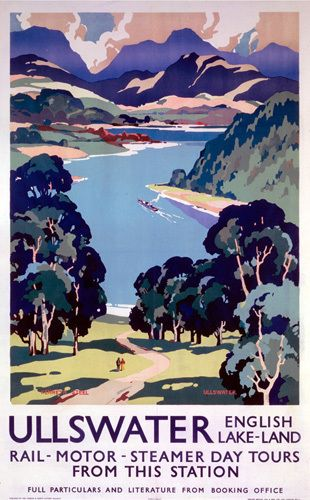 Ullswater - English Lake-Land Day Tours by National Railway Museum - art print from Easyart.com